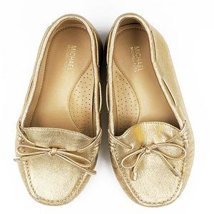 New Michael Kors Metallic Leather Moccasins 8.5